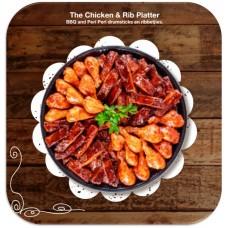 Chicken And Rib Platter