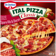 ITAL PIZZA SPARE RIB AND BACON 305GR