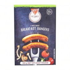 FRY'S BANGERS WOOD SMOKED 300GR