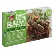 FRY'S BRAAI SAUSAGES MEAT FREE 380GR