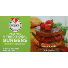 FRYS BURGER TRADITIONAL 320G