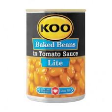 KOO BAKED BEANS TOMATO SAUCE LITE 410GR