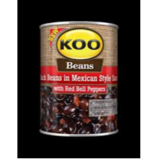KOO BLACK BEANS IN MEXICAN STYLE 410GR