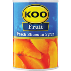 KOO PEACH SLICES IN SYRUP 400GR
