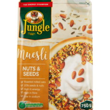 JUNGLE MUESLI NUTS & SEED 750G