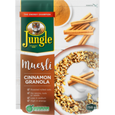 JUNGLE MUESLI CINNAMON GRANOLA 750G