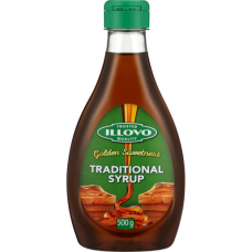 ILLOVO TRADITIONAL SYRUP SQUEEZE BOTTLE 500G
